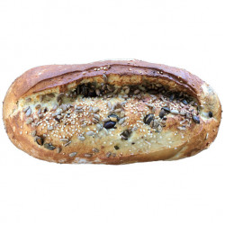 Seeded organic white bloomers 460g