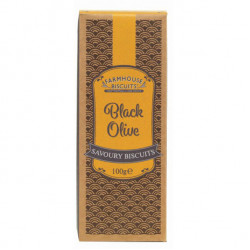 Savoury black olive 100g - Farmhouse Biscuits