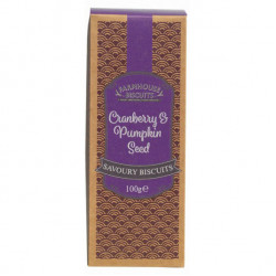 Savoury Cranberry & Pumpkin Seed 100g - Farmhouse Biscuits