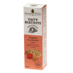 Grandma Wild's Oaty Biscuits for Cheese with Tomato & Linseed 130g