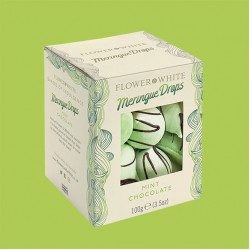 Meringue mint chocolate limited edition 100g - flower & white