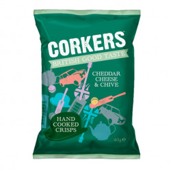 Corkers Cheddar Cheese & Chive 40g