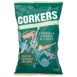 Corkers Cheddar Cheese & Chive 150g