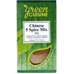 Green Cuisine Five Spice Mix (Chinese 5 Spice) 40g