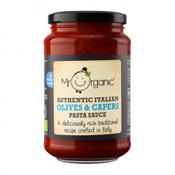 mr organic no added sugar authentic italian olives and capers pasta sauce