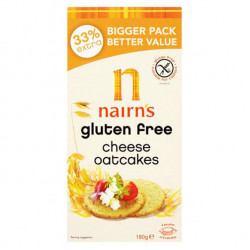 Nairns Gluten Free Cheese Oat Cakes 180g