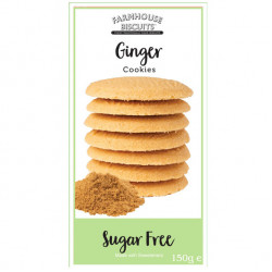 Sugar Free Ginger Cookies (150g) - Farmhouse Biscuits