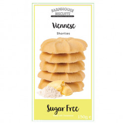 Sugar Free Viennese Shorties (150g) - Farmhouse Biscuits