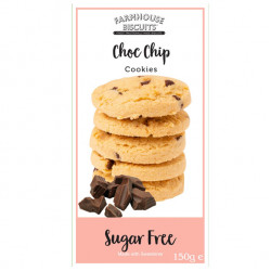 Sugar Free Chocolate Chip Cookies (150g) - Farmhouse Biscuits