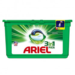 Ariel 3 in 1 Pods Liquitabs Washing Detergent Tablets Capsules (Pack of 35)